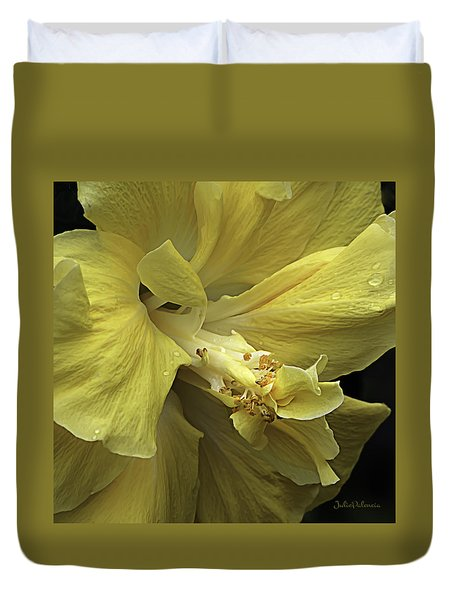Flowing Petals Of The Chinese Hibiscus Duvet Cover