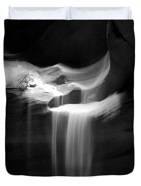 Flowing Sand In Antelope Canyon Duvet Cover