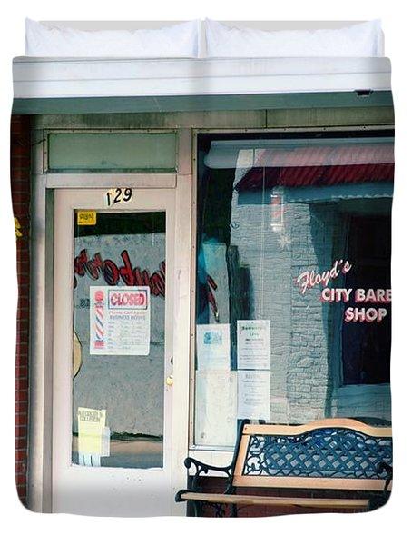 Floyd's Barber Shop Nc Duvet Cover