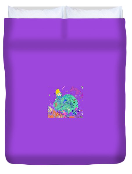 Fluffy Bunny In A World Of Color Duvet Cover