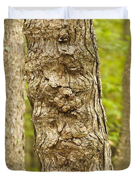 Fluted Tree Duvet Cover by Carol Lynn Coronios