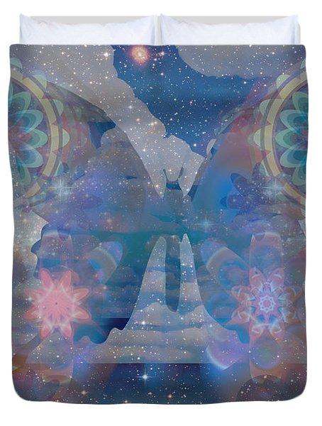 Flutterby Meditation Duvet Cover