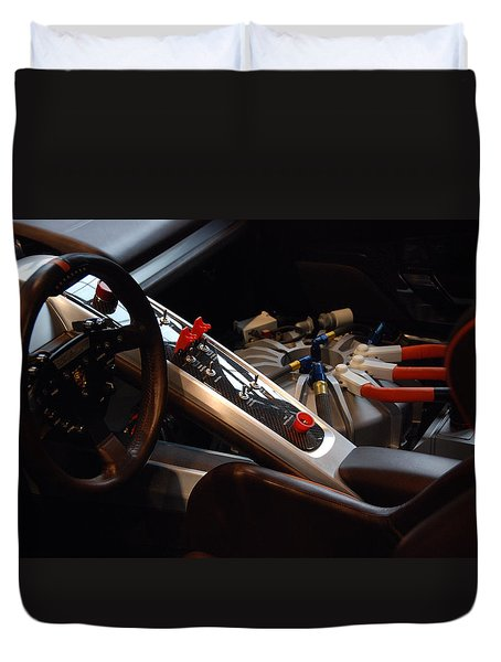 Duvet Cover featuring the photograph Flux Capacitor by John Schneider