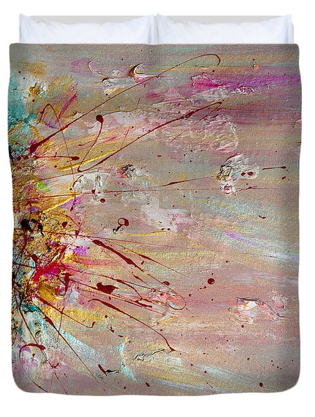 Fly Away Abstract Painting Duvet Cover