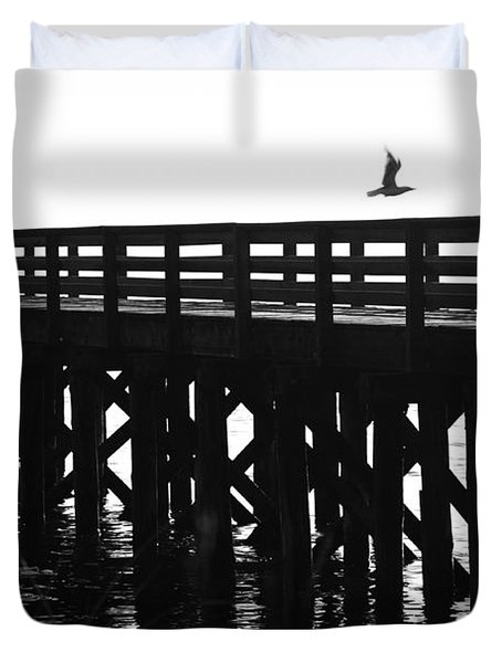 Duvet Cover featuring the photograph Fly Away by Sonya Lang