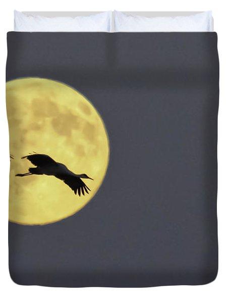 Moonlight Flight Duvet Cover