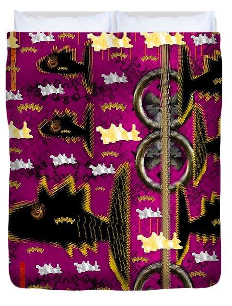 Fly Fish Pop Art Duvet Cover by Pepita Selles
