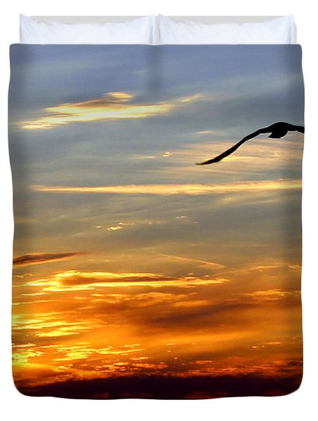 Fly Free Duvet Cover by Faith Williams