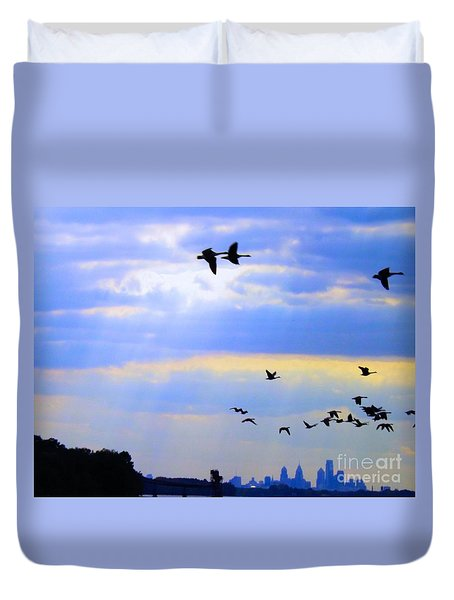 Fly Like The Wind Duvet Cover by Robyn King