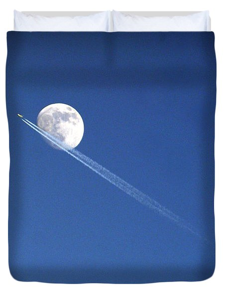 Fly Me To The Moon Duvet Cover by Cricket Hackmann