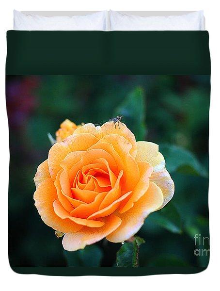 Fly On A Rose Duvet Cover