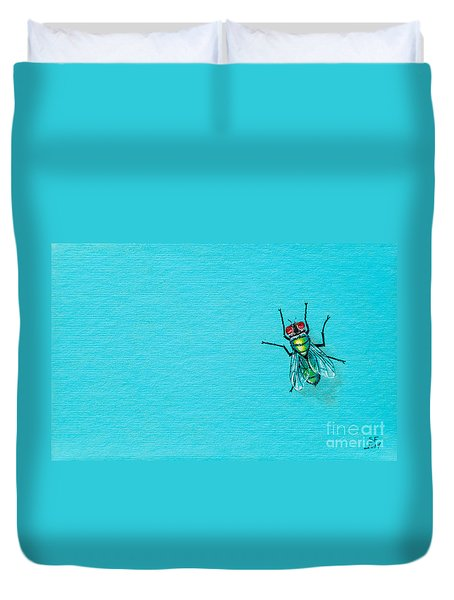 Fly On The Wall Duvet Cover