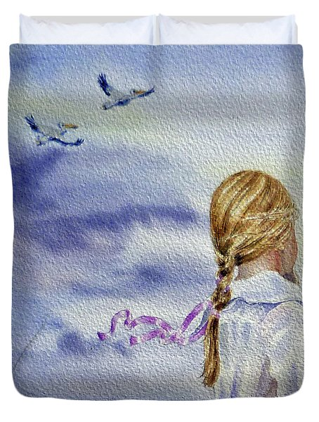 Fly With Us Duvet Cover