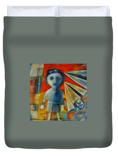 Flyboy Duvet Cover by Jean Cormier