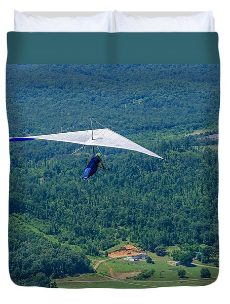 Duvet Cover featuring the photograph Flyin High by Susan  McMenamin