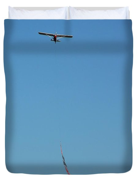 Flying Ads Duvet Cover