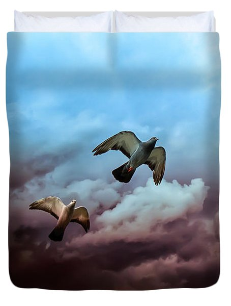 Flying Before The Storm Duvet Cover