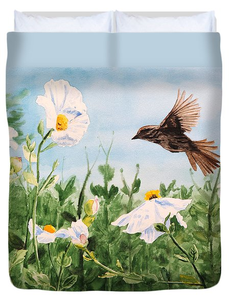 Flying Bird Duvet Cover