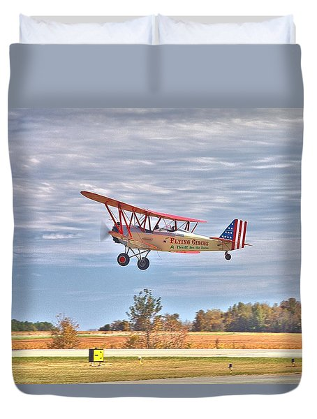 Flying Circus Barnstormers Duvet Cover by Gordon Elwell