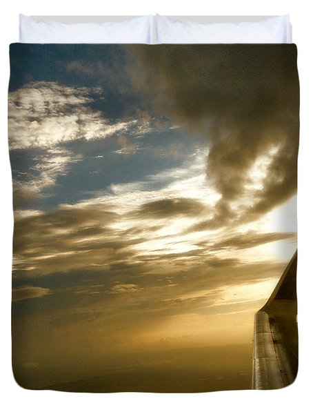 Flying Clouds By David Pucciarelli Duvet Cover