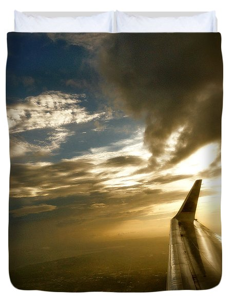Duvet Cover featuring the photograph Flying Clouds By David Pucciarelli by Iconic Images Art Gallery David Pucciarelli