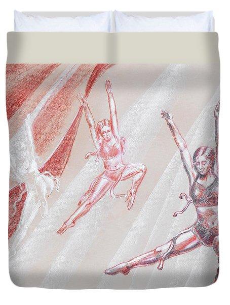 Flying Dancers  Duvet Cover by Irina Sztukowski