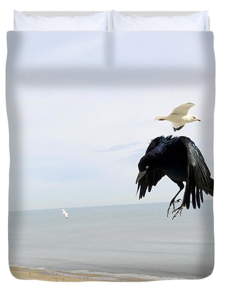 Flying Evil With Bad Intentions Duvet Cover