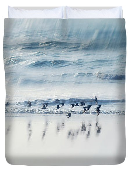 Flying Free Duvet Cover by Jenny Rainbow