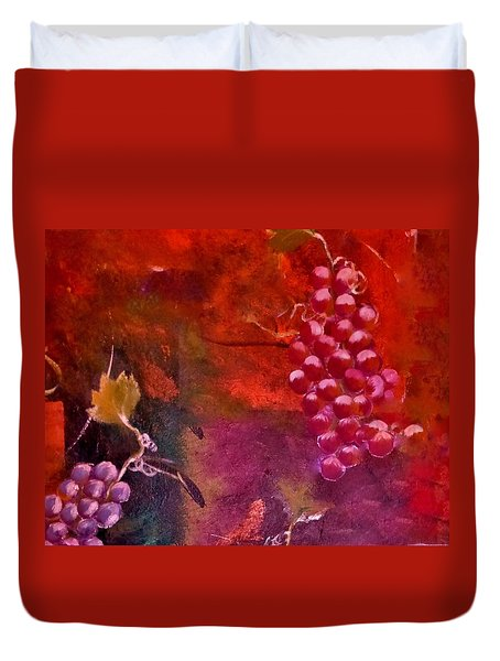 Flying Grapes Duvet Cover