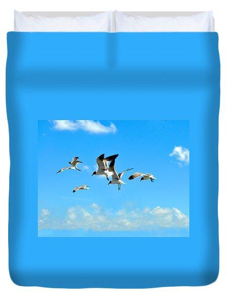 Flying Gulls Duvet Cover