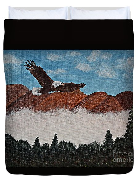 Flying High Duvet Cover by Barbara Griffin