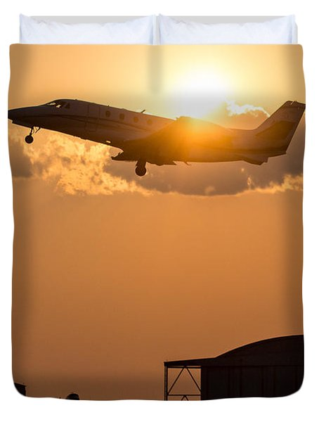 Flying Home Duvet Cover by Paul Job