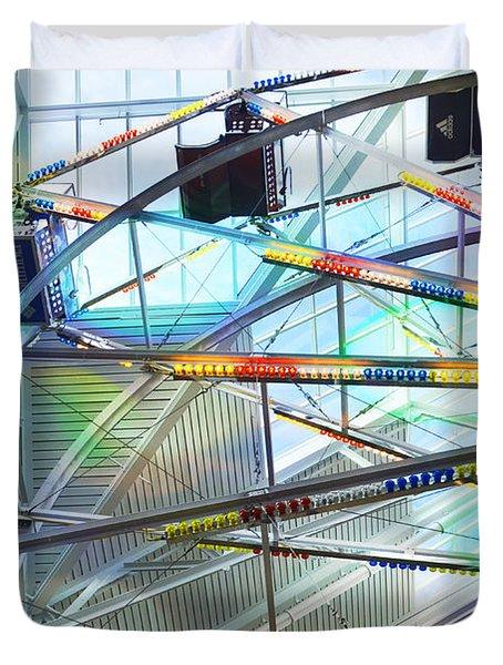 Flying Inside Ferris Wheel Duvet Cover by Luther Fine Art