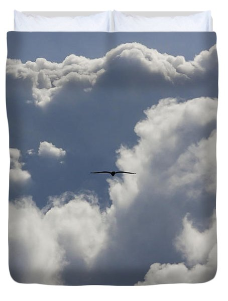 Flying Into The Storm Duvet Cover
