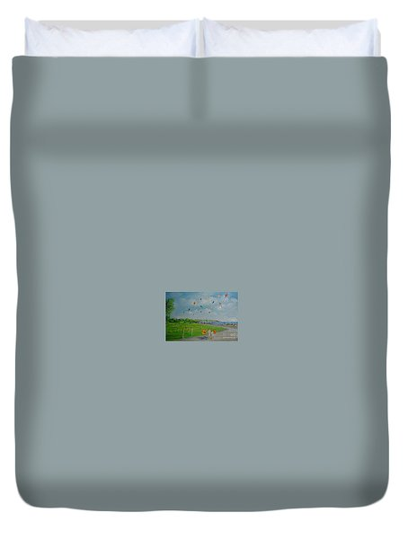 Flying Kites Newport Ri Duvet Cover