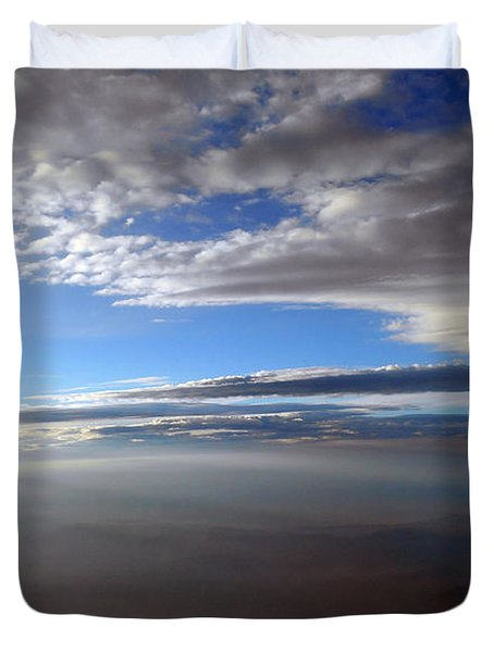 Flying Over Southern California Duvet Cover