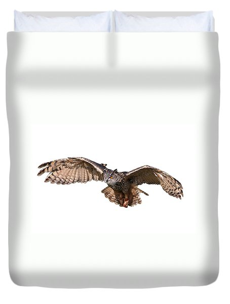 Flying Owl Duvet Cover
