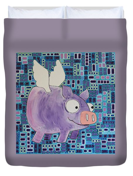 Flying Pig Duvet Cover