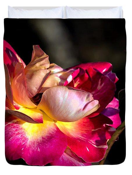 Flying Rose Duvet Cover
