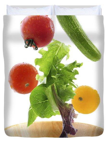 Flying Salad Duvet Cover by Elena Elisseeva
