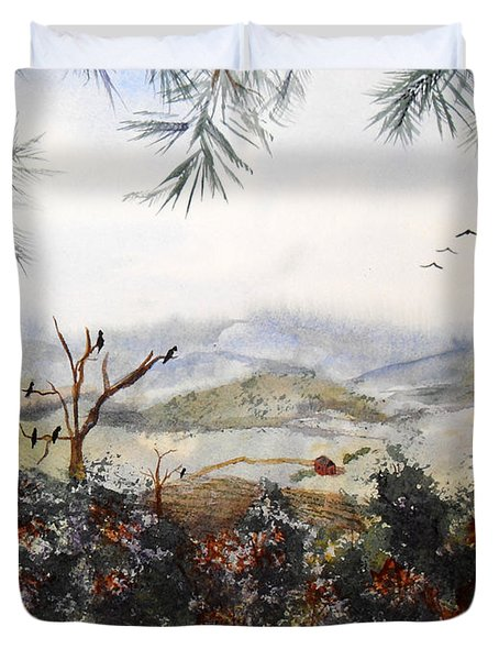 Flying South For The Winter Duvet Cover by Vicki  Housel