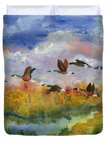 Flying South Duvet Cover