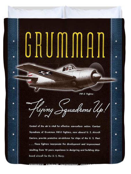 Grumman Flying Squadrons Up Duvet Cover
