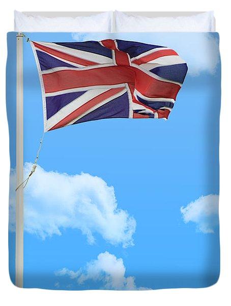 Flying Union Jack Duvet Cover by Amanda Elwell