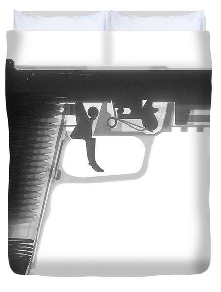 Fn 57 Hand Gun X-ray Photograph Duvet Cover
