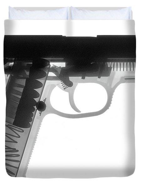Fn P9a Hand Gun X-ray Print Duvet Cover