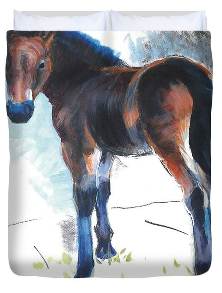Foal Painting Duvet Cover