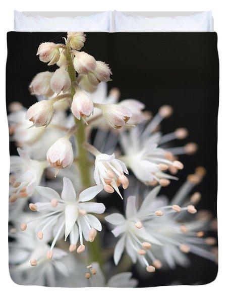 Foam Flower Duvet Cover by Melinda Fawver