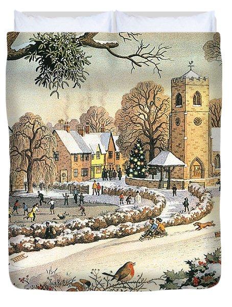 Focus On Christmas Time Duvet Cover by Ronald Lampitt