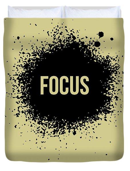 Focus Poster Grey Duvet Cover